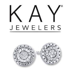 KAY JEWELERS diamond earrings round cut
